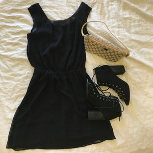 EXPRESS LITTLE BLACK DRESS MINI DRESS